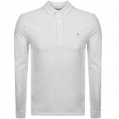 Product Image for Farah Vintage Long Sleeved Polo T Shirt White